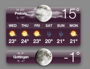 Same moon phase for pretoria and Göttingen