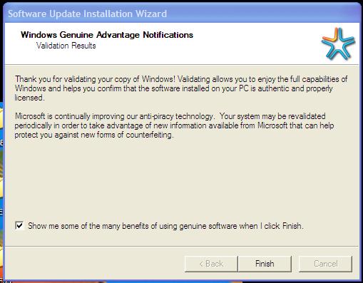 Software Update Installation WIzard screenshot