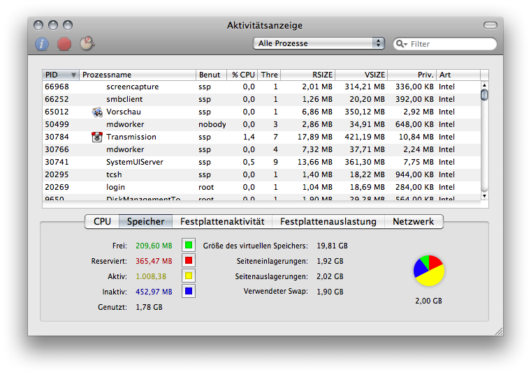 Mac OS X.5's Activity Monitor