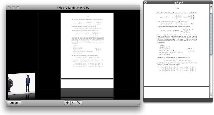 iChat Theater in use with a PDF file