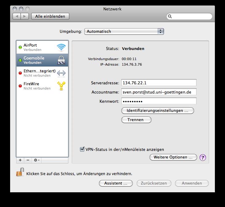 Cisco VPN connection in MacOSX.6