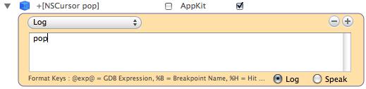 Breakpoints window of XCode 3