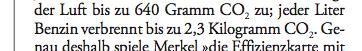 Snippet from Die Zeit
