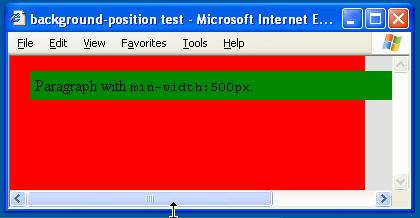 Internet Explorer 6 screenshot of the test page