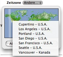 Set the time zone using a map