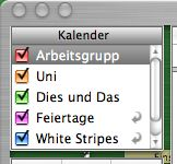 top left corner of iCal metal window with transparent bits and misplaced widgets