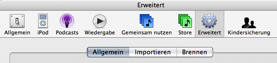iTunes 5 Preferences