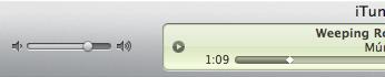 Volume Slider and playback progress indicator in iTunes 9