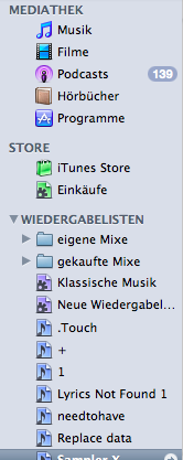 iTunes 9 Source List Icons