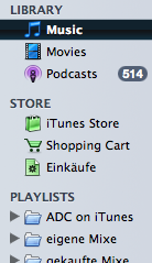 Source list from iTunes 7.2