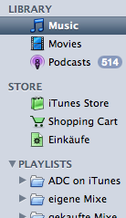 Source List from iTunes 7.3