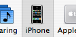 iPhone tab in iTunes' preferences window