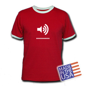 Red speaker shirt
