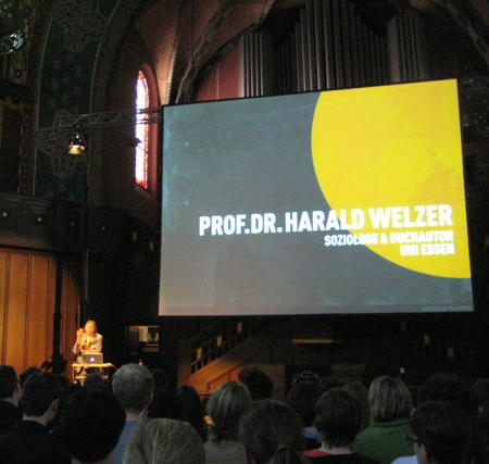 Harald Welzer speaking at see conference 2011