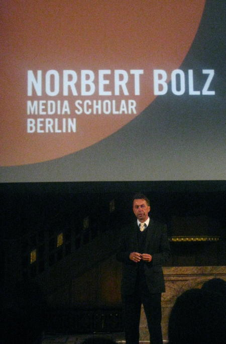 Norbert Bolz speaking at see7