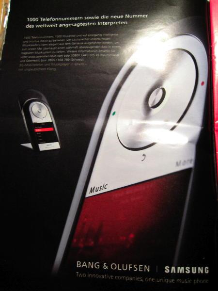 B & O Phone ad from a mazagine