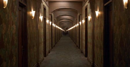 Long retro corridor from the film
