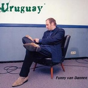 Cover of Funny van Dannen's Uruguay record. He's wearing cowboy booths on it.