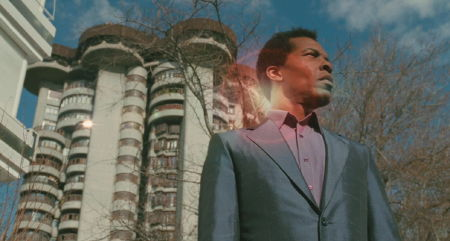 Isaach de Bankolé in front of the Towers