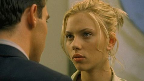 Shot of Scarlett Johansson in the film