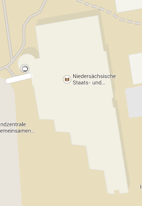 Early afternoon screenshot of SUB Göttingen in Google Maps