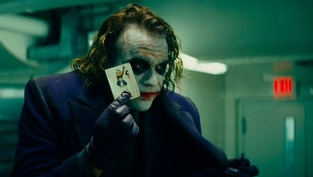 The Joker and his business card