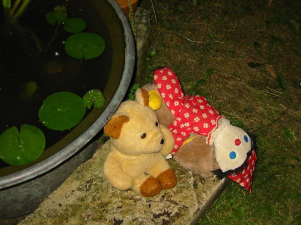 Outdoor teddy zoo