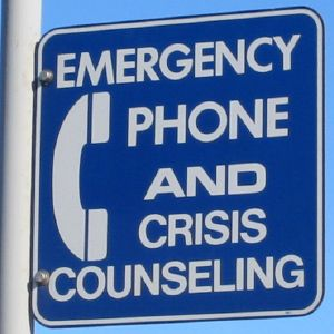 Emergency phone and crisis counseling