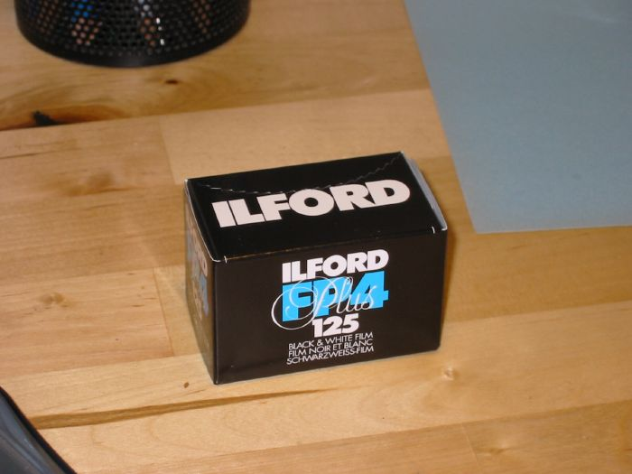 Ilford FP4 black and white film.